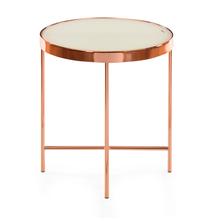 Floris Side Table - @home by Nilkamal, White & Copper