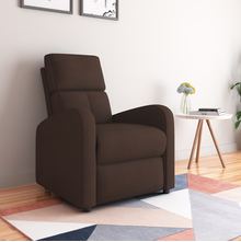 Silome 1 Seater  Manual Recliner, Dark Brown