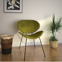 Smile Occassional Chair, Olive