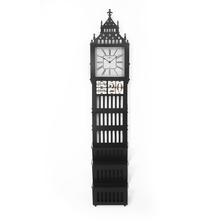Big Ben Multi Use Floor Clock - @home by Nilkamal, Black