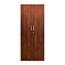 Nilkamal Reegan 2 Door Wardrobe Without Mirror, Walnut