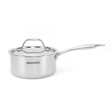 Bergner Triply Stainless Steel 16 cm Sauce Pan with Lid, Silver