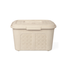 Ratan 6 Litre Storage Box with Lid, Beige