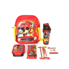 Mickey 6 Pieces Set School Kit with Bag, Multicolor