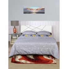 Zig Zag 220 cm x 240 cm Double Bed in Bag Set of 2, Grey & Yellow