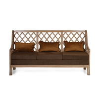 Miraya 3 Seater Sofa - @home by Nilkamal,  brown
