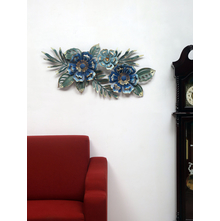 Floral Bliss Wall Decor, Sea Green