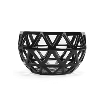 Noir Geometric Bowl, Black