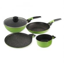 Wonderchef Click Amaze Cookware Set of 4, Green