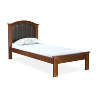 Morgan Single Bed without Storage - @home by Nilkamal, Antique Cherry