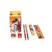 Mickey 7 Pieces Stationery Gift Set, Yellow & Red