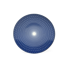Printed Porcelain Side Plate, Indigo