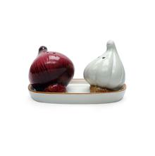 Garlic Salt & Pepper With Tray, Multi Colour