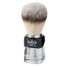 Omega 40634 HI-BRUSH 100% Synthetic Badger Imitation fiber shaving brush– Made in Italy