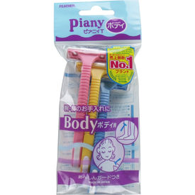 Piany Body Razor - 3 pcs - Feather - Made in Japan - No1 Best Selling Razors in Japan
