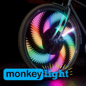 M232 MONKEY LIGHT - 200 Lumen - Bicycle/Cycle Wheel Light - 32 Full Color LED - Waterproof - HIGH PERFORMANCE Wheel LIGHT - MADE IN USA