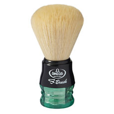 Omega S10077 S-Brush fiber shaving brush -Synthetic Boar Shaving Brush– Made in Italy - Handle Color: Green & Black