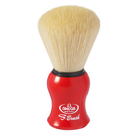 Omega S-Brush fiber shaving brush Omega S10065 S-Brush Synthetic Boar Shaving Brush– Made in Italy - Color RED