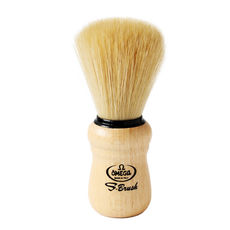 Omega S10005 S-Brush Synthetic Boar Shaving Brush– Beech Handle– Made in Italy