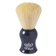 Omega S-Brush fiber shaving brush Omega S10065 S-Brush Synthetic Boar Shaving Brush– Made in Italy - Color Blue