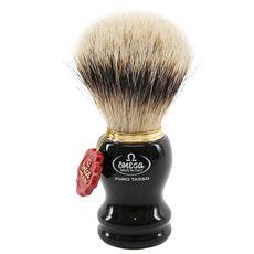 Omega 618 - 100% Silvertip Badger Shaving Brush– Made in Italy