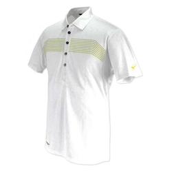 Mizuno JQ Print Rib Polo T Shirt - White,  white, xxl
