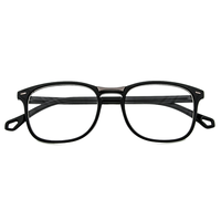 Rectangular Black Frame with Metal Detail