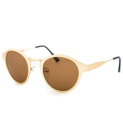 Matte Gold Round Sunnies