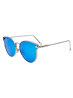 Mercury Kitten Cat Eye Sunnies (Blue Reflective)
