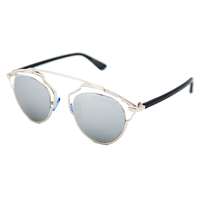 New Wave Metal Bridge Sunnies (Silver)
