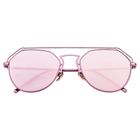 Roof Is On Wire Sunnies (Pink Reflective)