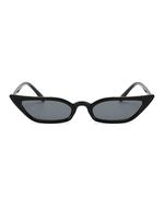 Lash Line Micro Black Sunglasses
