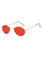 Metal Micro Red Sunglasses