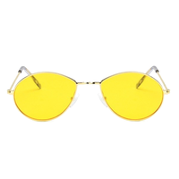 Metal Micro Yellow Sunglasses