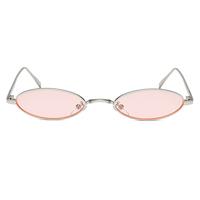 Metal Micro Oval Pink Sunglasses