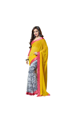 7 Colors Lifestyle Georgette Abstract Printed Saree - AAPSR905VRSI