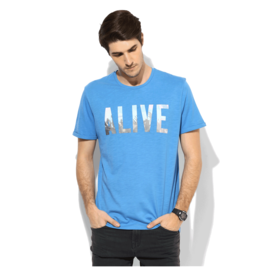 Tom Tailor Alive Printed T-Shirt, s,  white