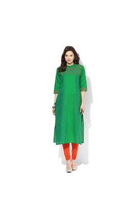 Riya Printed Kurta, l,  green
