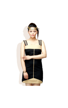 ADAM N EVE Black Casual Dress, s,  black