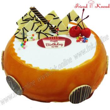 Eggless Butterscotch Fudge Cake, 0.5 kg, eggless
