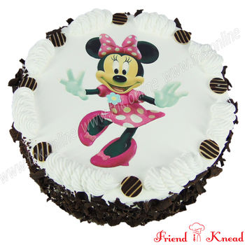 Hello Minnie Photo Cake, 1 kg, egg, choice 1