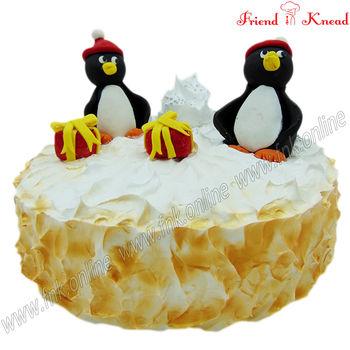 Kids' Special - Pingu Snow Cake, 1.5 kg, eggless