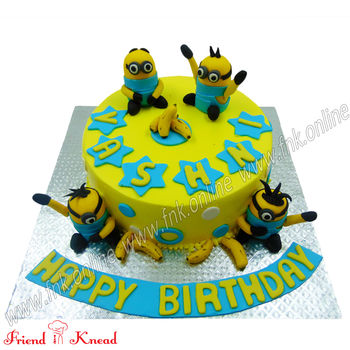 Minion Theme Cake, 1.5 kg, egg