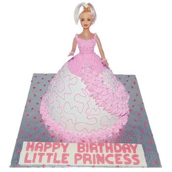 Barbie Girl Cake, 2 kg, egg