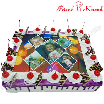 Customized Photo Cakes, 0.5 kg, egg, choice 1