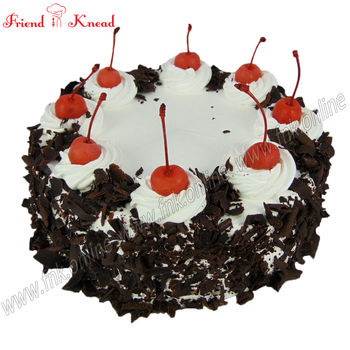Eggless Black Forest Cake, 0.5 kg, eggless