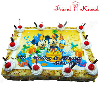 Mickey Mouse Photo Cake, 2 kg, egg, choice 1