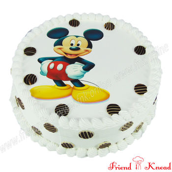 Hello Mickey Photo Cake, 1 kg, egg, choice 1