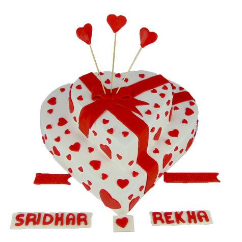 Lovely Hearts Wedding Cake