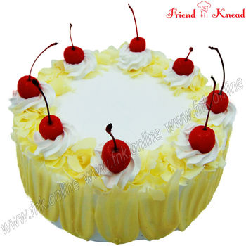 Eggless White Forest Cake, 0.5 kg, eggless